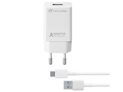 220V Lader 2i1 kit, USB-C lader, Samsung. 220V / 15W