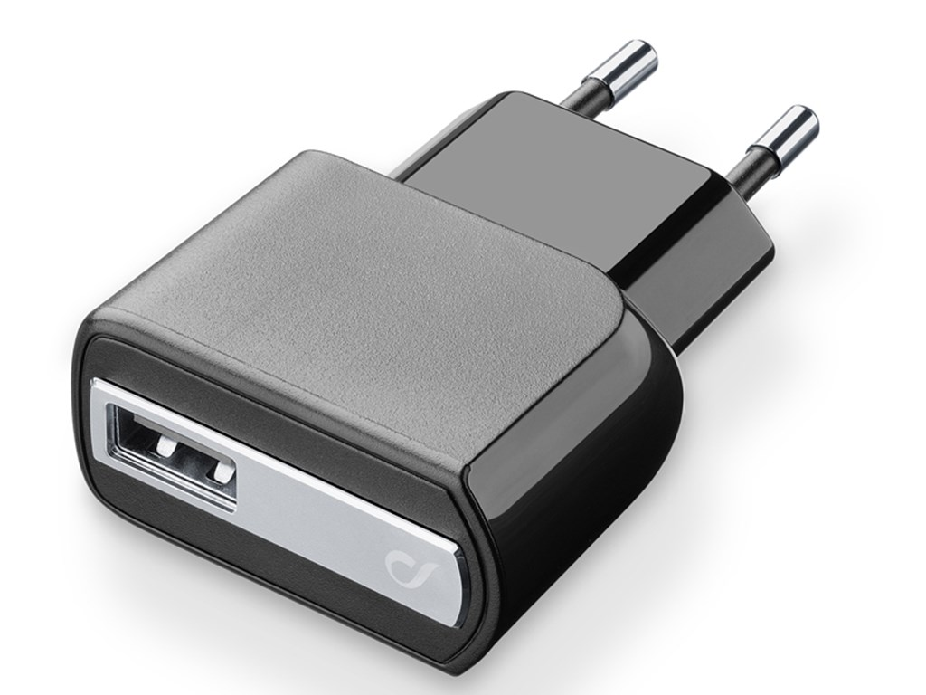 220V Adapter USB 2A, 220V, sort