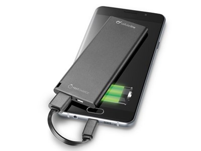 Powerbank 3.000 mAh. SLIM, sort