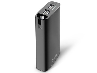 Powerbank, 6.700 mAh. Sort