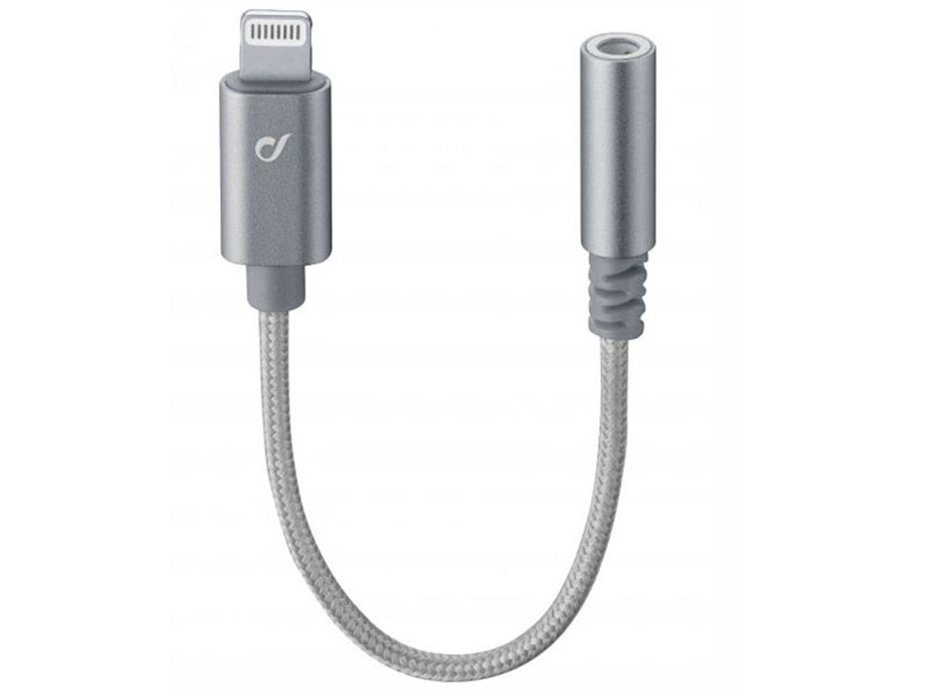 AUX Audio Adapter. Lightning. 10 cm.